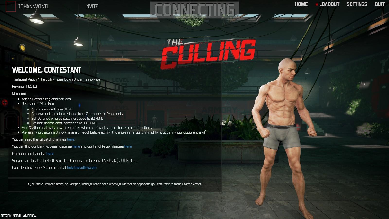 The Culling - Startmenü