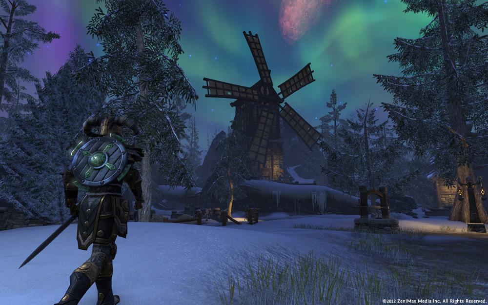 Mühle von Oedfels bei Nacht