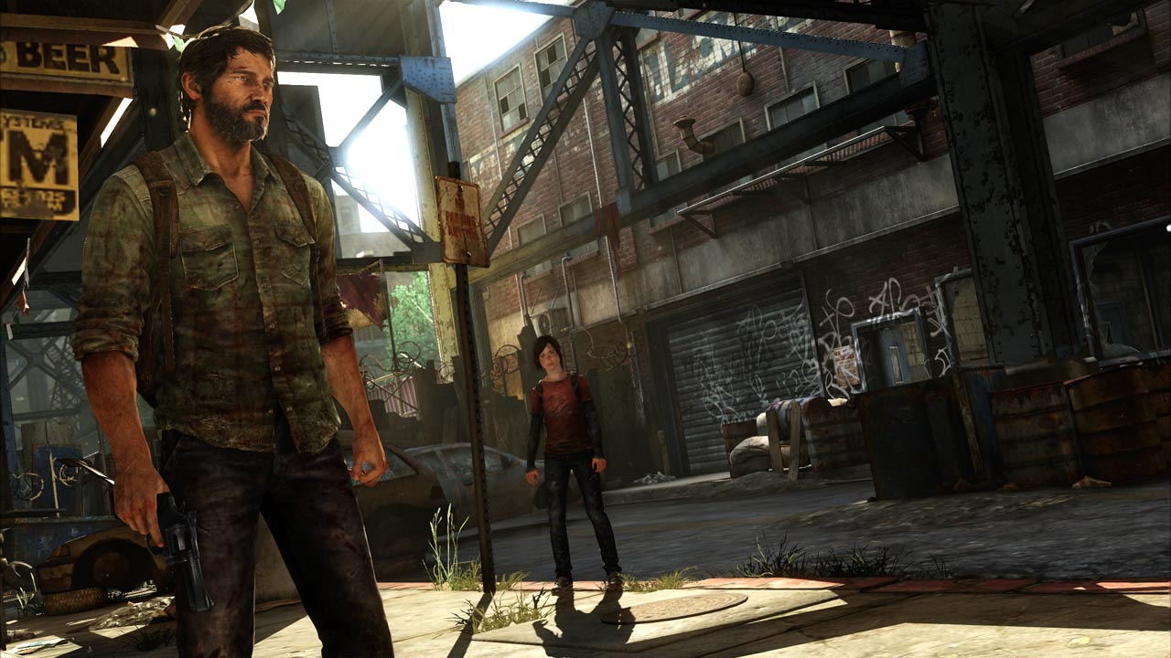 Joel und Ellie auf gesicherter Straße