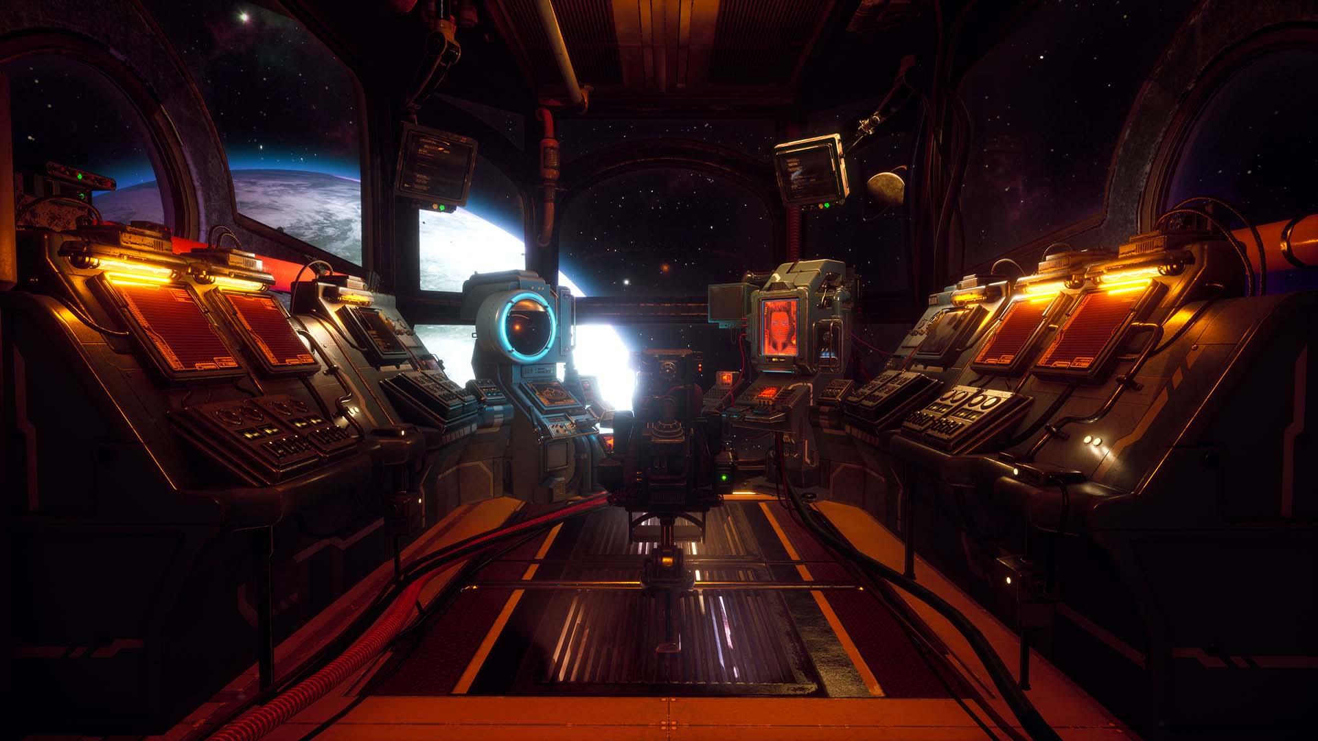 The Outer Worlds - Im Cockpit eines Raumschiffs