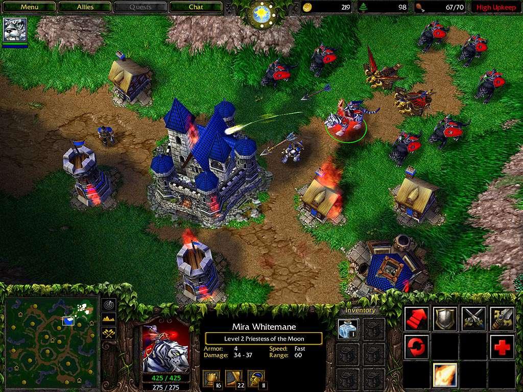 Old But Gold Games - Warcraft 3 - Nachtelfen VS Menschen