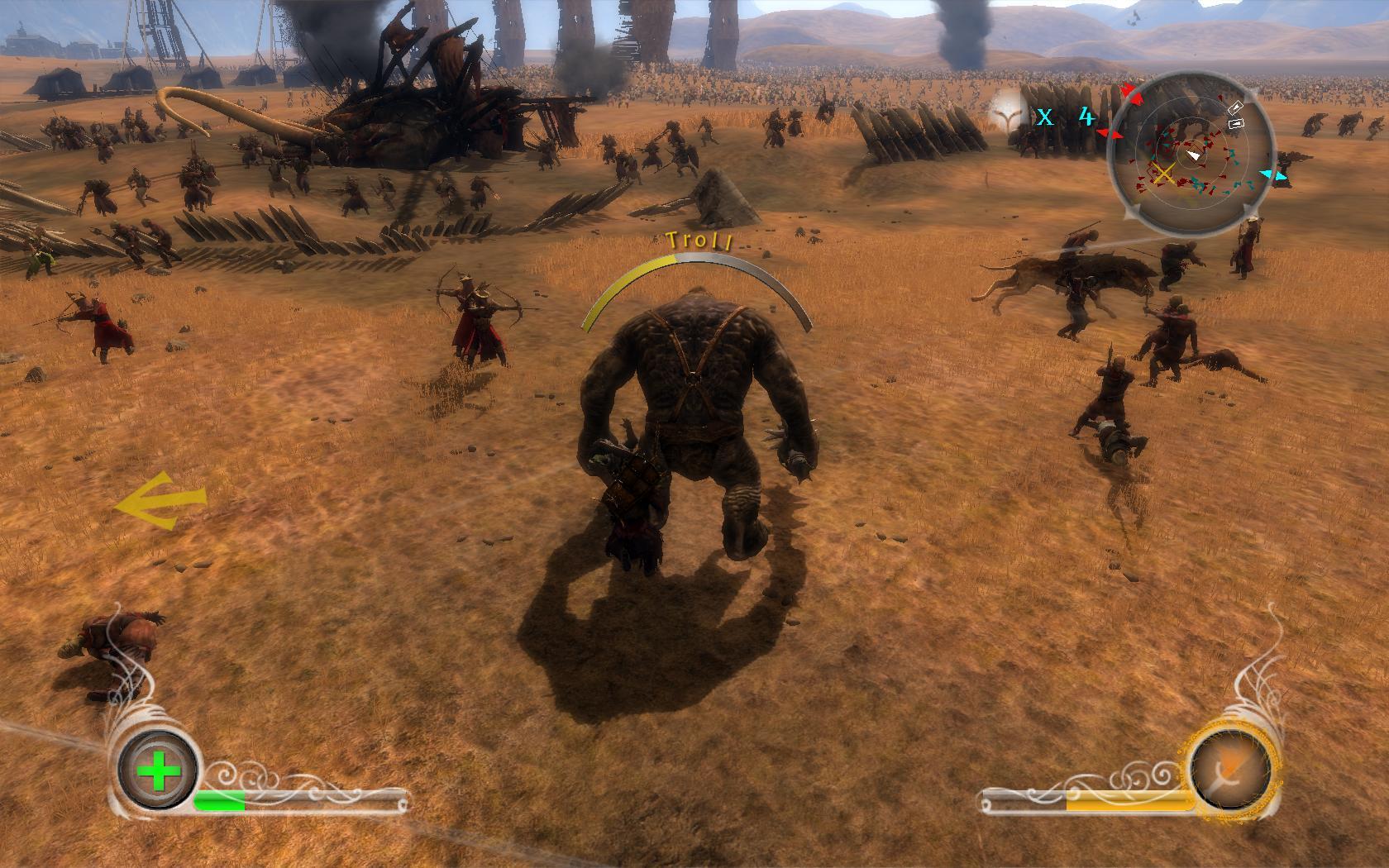 Herr der Ringe Games - Die Eroberung - Ein Troll in einer Kulisse