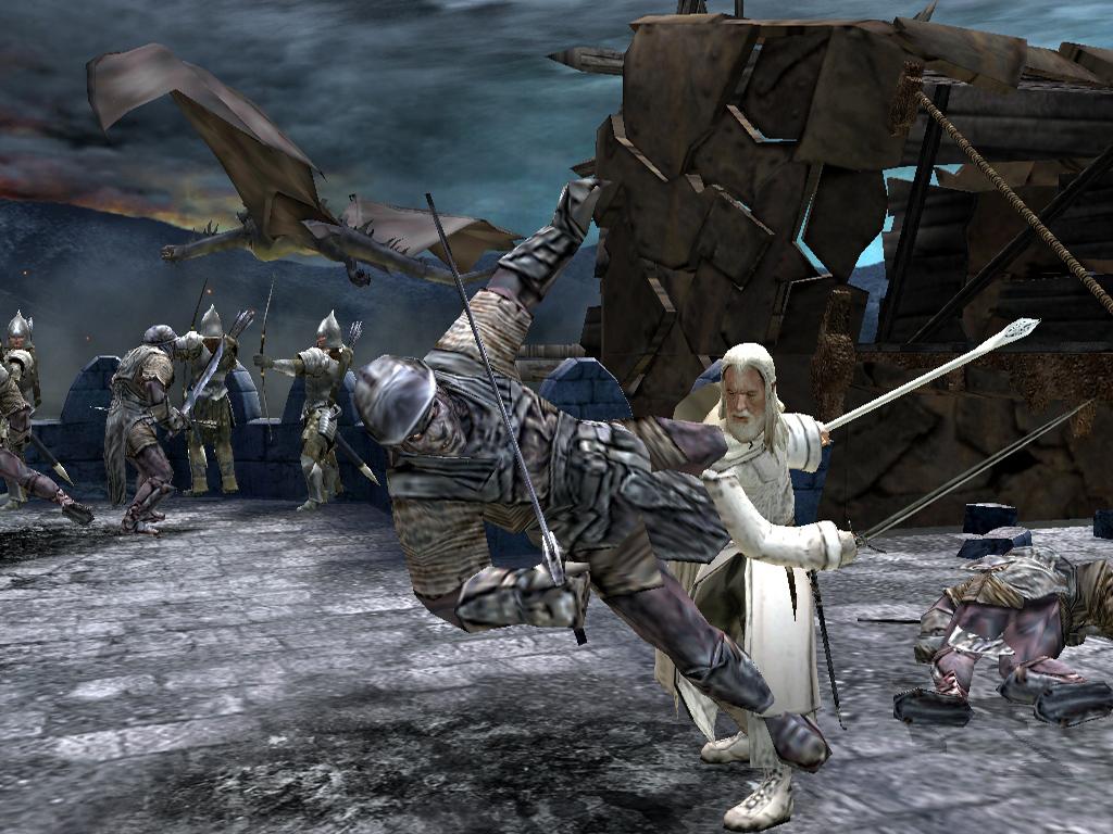 Herr der Ringe Games - Die Rückkehr des Königs - Gandalf auf der Mauer