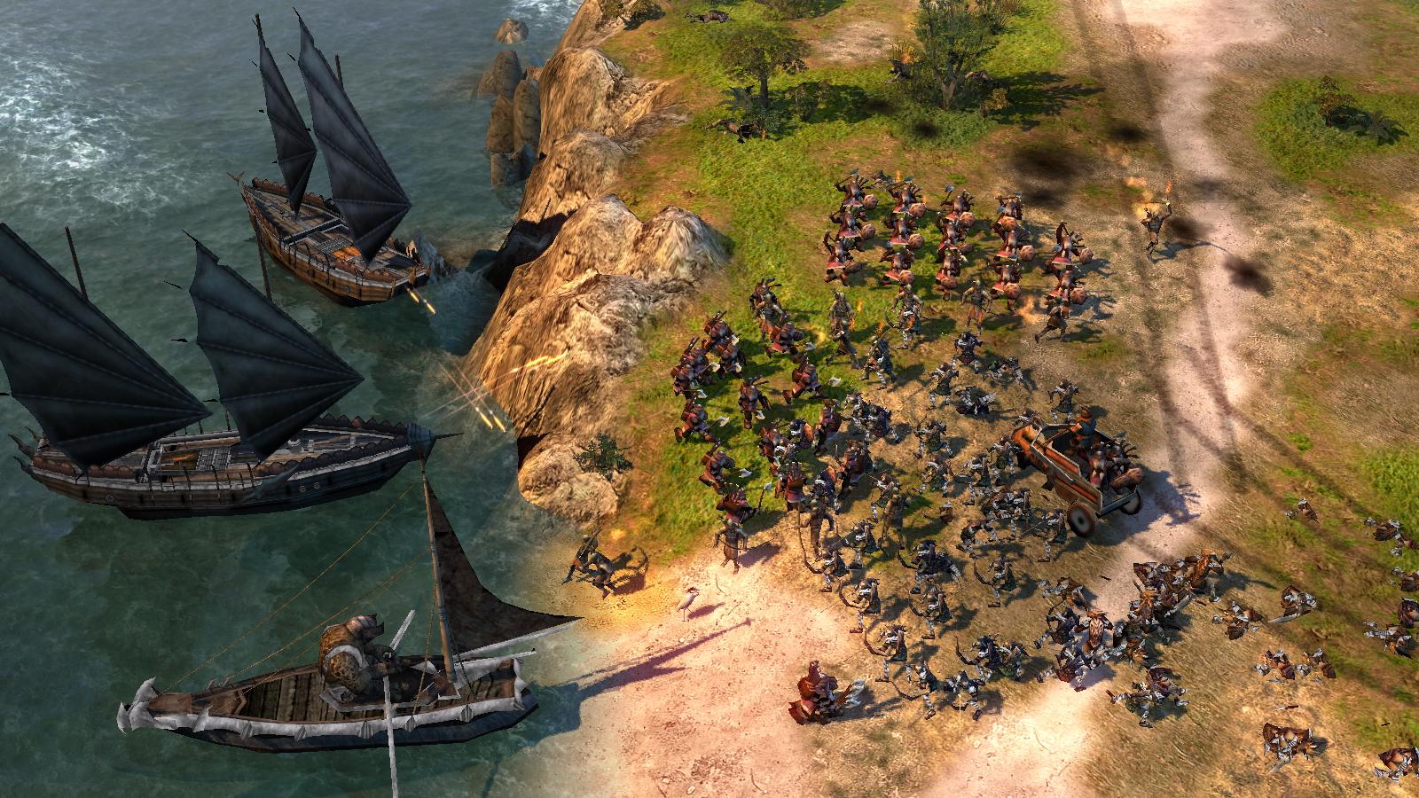 Herr der Ringe Games - Die Schlacht um Mittelerde 2 - Landung von Orks am Ufer