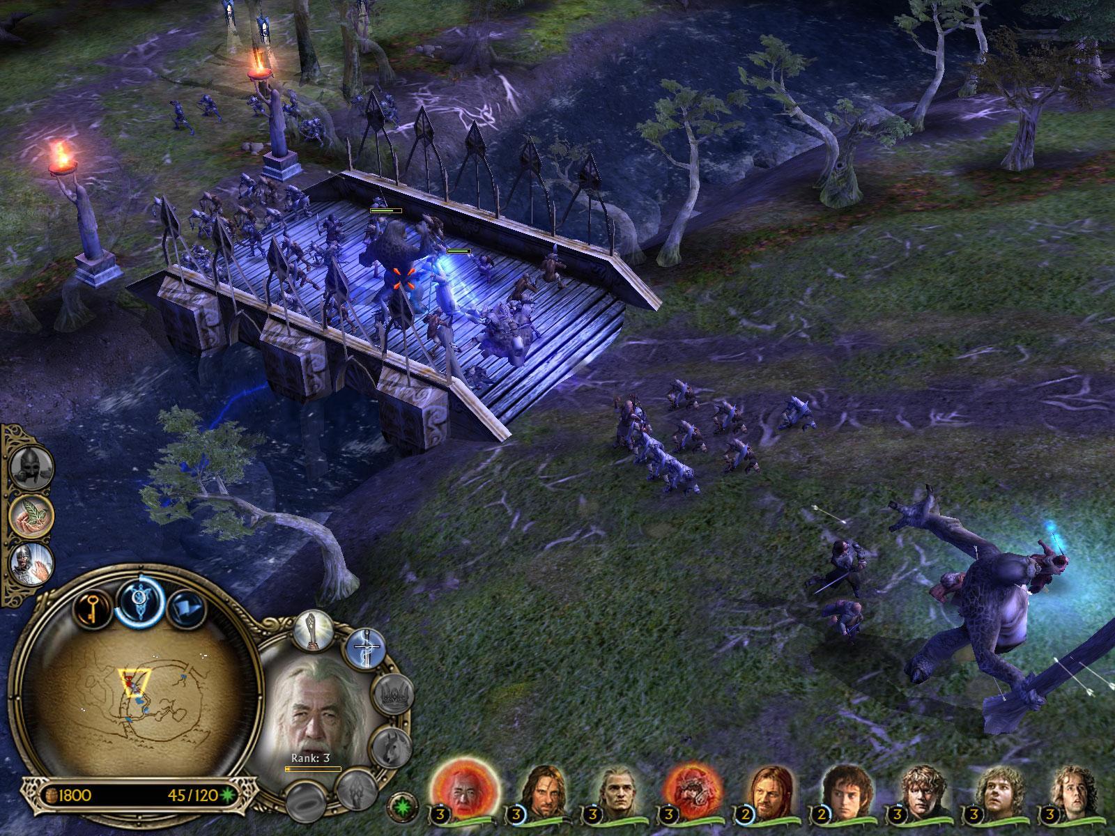 Herr der Ringe Games - Die Schlacht um Mittelerde - Die Gefährten auf der Flucht