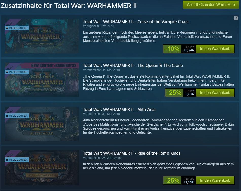 Total War - Warhammer 2 - DLCs im Überblick