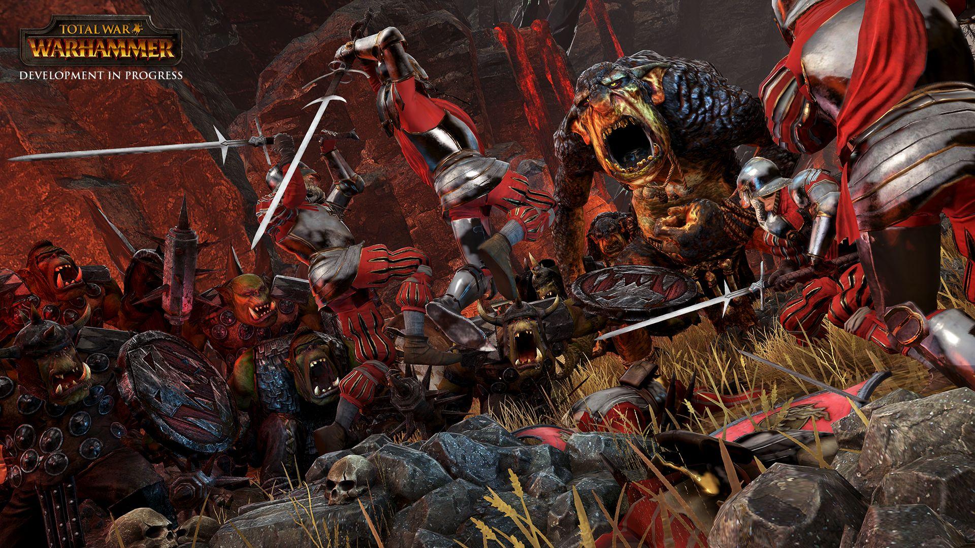 Total War - Warhammer – Zweihandschwertkämpfer gegen Orks und Trolle