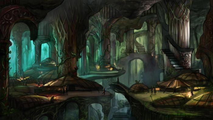 Underworld Ascendant - Artwork Eine lebendige Welt unter der Erde