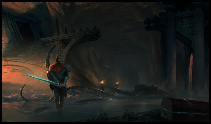Underworld Ascendant - Artwork Krieger mit Schwert