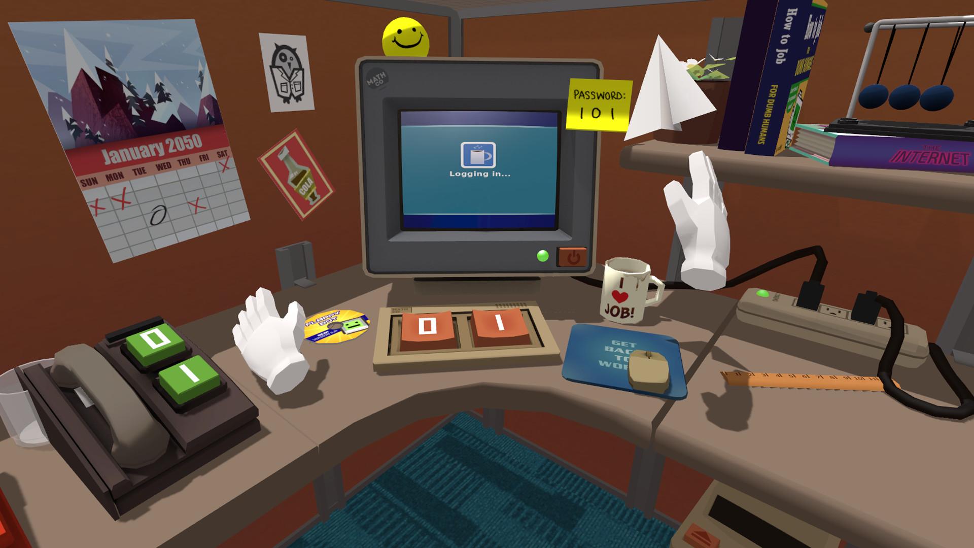 Frühe VR Games - Job Simulator