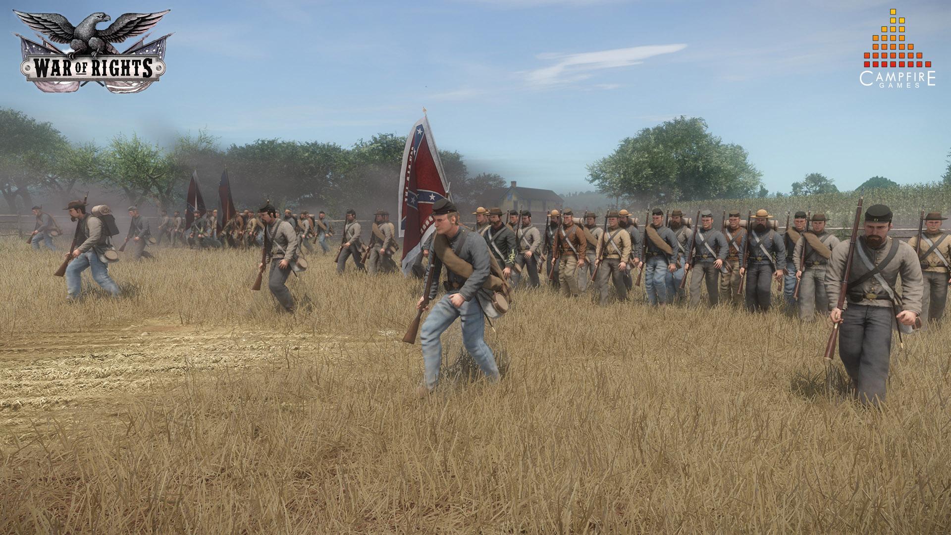 War of Rights - Konföderierte Truppen auf dem Vormarsch
