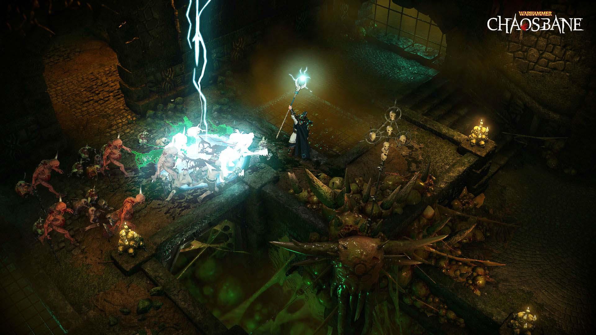Warhammer - Chaosbane - Hochelfen Zauberer im Kampf
