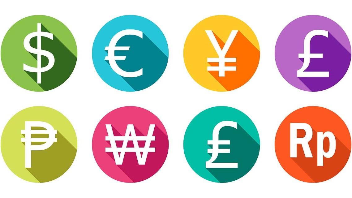 Unterschiedliche-Währungen