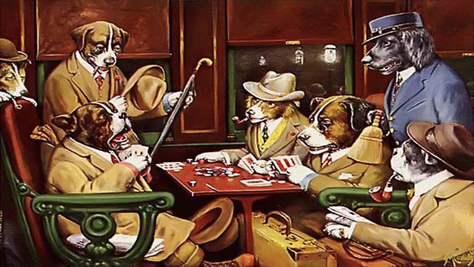 Hunde spielen Poker