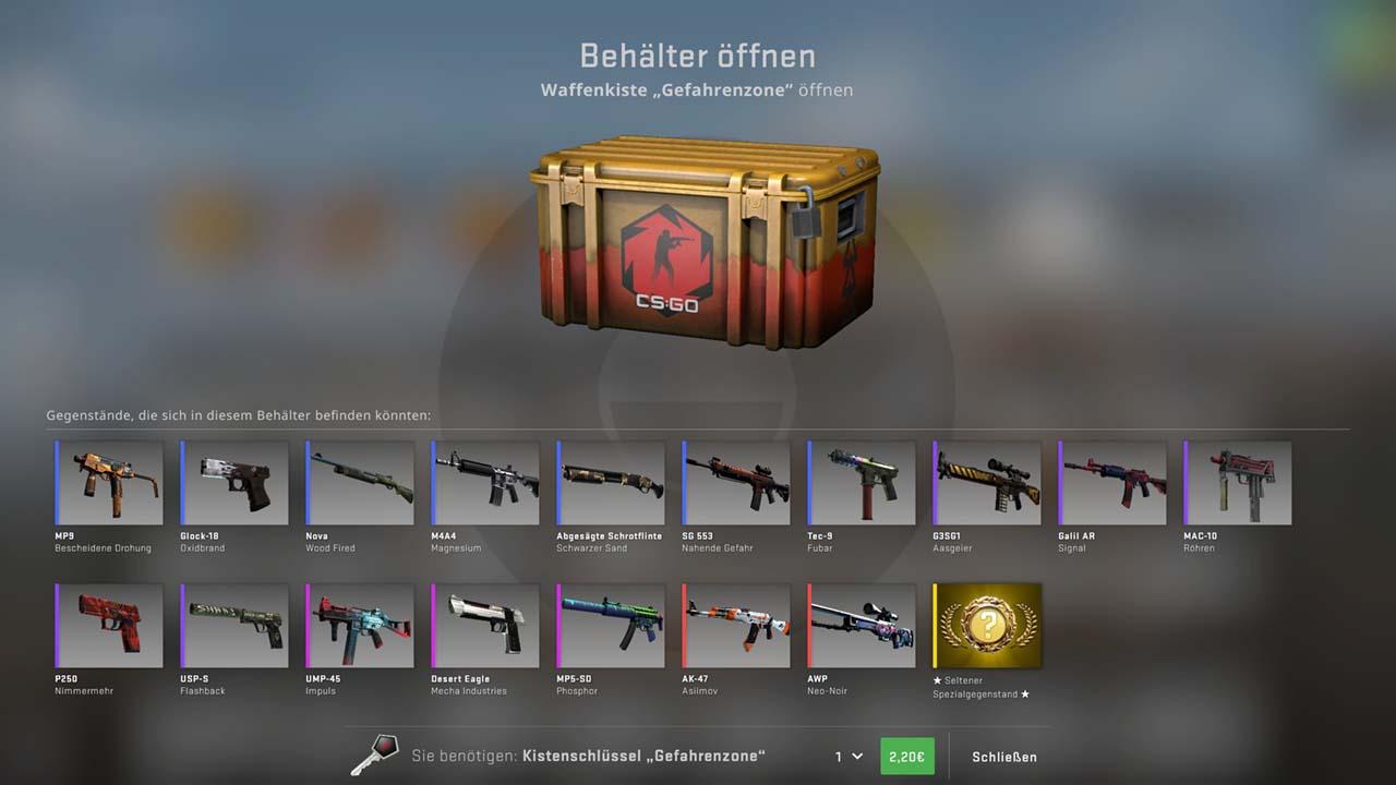 CS GO Lootboxen