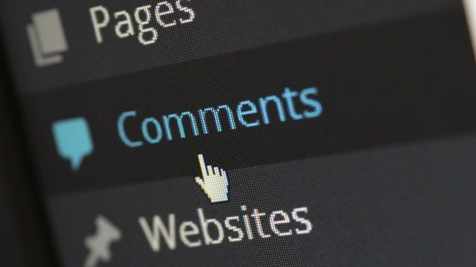 """Zu sehen ist eine Webfläche, auf welcher die Menüpunkt """"Comments"""" angeklickt wird."""