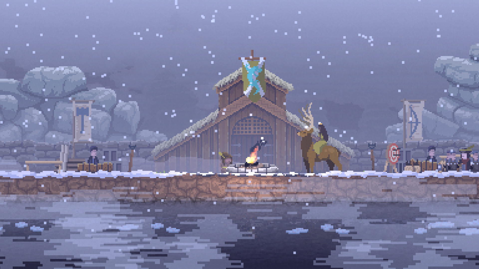 Kingdom-New-Lands-Prächtiger-Hirsch-im-Winter