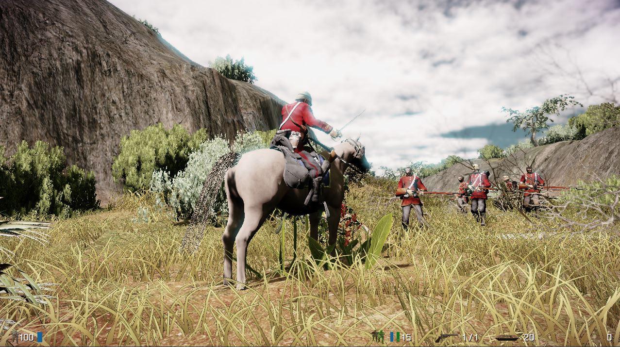Zulu-Response-Britischer-General-zu-Pferd